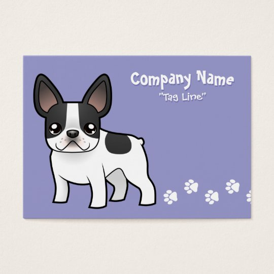 Cartoon French Bulldog Business Card