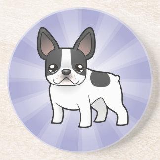 Cartoon French Bulldog Coasters