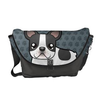 Cartoon French Bulldog Commuter Bags