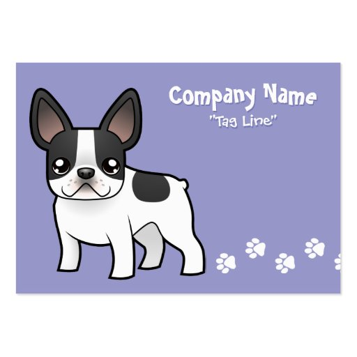 Cartoon French Bulldog Pack Of Chubby Business Cards