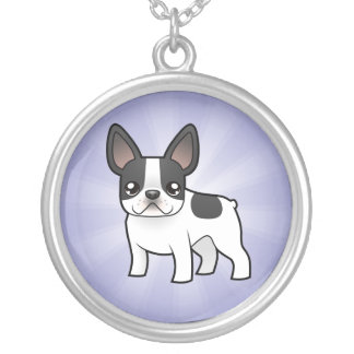 Cartoon French Bulldog Silver Plated Necklace