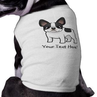 Cartoon French Bulldog Sleeveless Dog Shirt