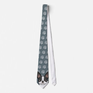 Cartoon French Bulldog Tie