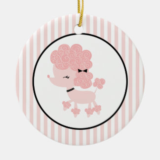 Cartoon French Poodle Custom Ornaments