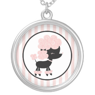 Cartoon French Poodle Silver Plated Necklace