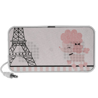 Cartoon French Poodle PC Speakers