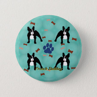 Cartoon Frenchie 6 Cm Round Badge