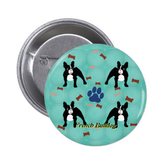 Cartoon Frenchie 6 Cm Round Badge