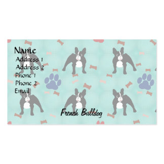 Cartoon Frenchie Pack Of Standard Business Cards