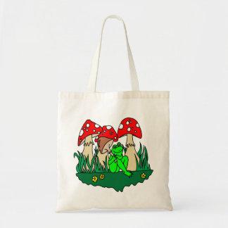 Cartoon Frog and Mushrooms