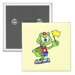 Cartoon Frog Athlete Pinback Button