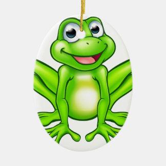 Cartoon Frog Ceramic Oval Decoration
