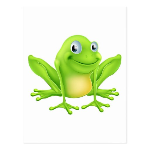 Cartoon frog character post cards