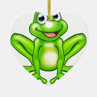 Cartoon Frog Christmas Ornament