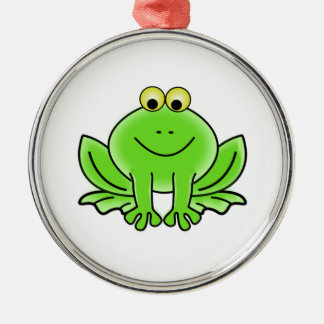 Cartoon Frog Christmas Ornament