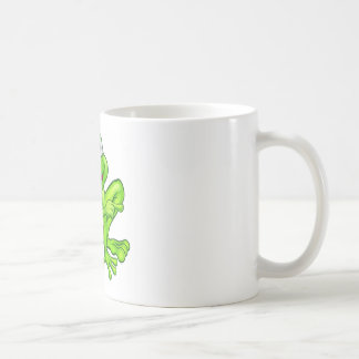 Cartoon Frog Pointing Coffee Mug
