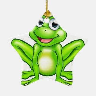 Cartoon Frog Prince Christmas Ornament