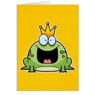 Cartoon Frog Prince Greeting Card