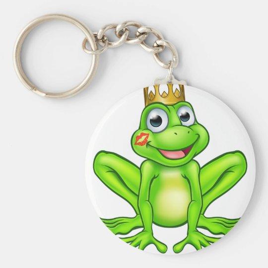 Cartoon Frog Prince Kiss Key Ring