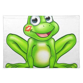 Cartoon Frog Prince Kiss Placemats