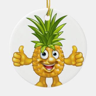 Cartoon Fruit Pineapple Mascot Character Christmas Ornament