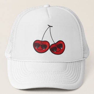 Cartoon Fun Comic Funny Cheeky Red Cherries Cherry Cap