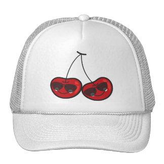 Cartoon Fun Comic Funny Cheeky Red Cherries Cherry Cap