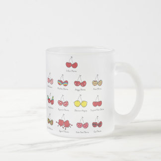 Cartoon Fun Comic Funny Cheeky Red Cherries Cherry Frosted Glass Coffee Mug