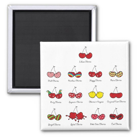 Cartoon Fun Comic Funny Cheeky Red Cherries Cherry