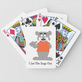 Cartoon Funny Dog Bicycle Card Deck