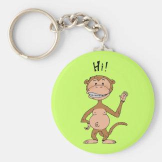 Cartoon funny monkey (Hi!) Keychains