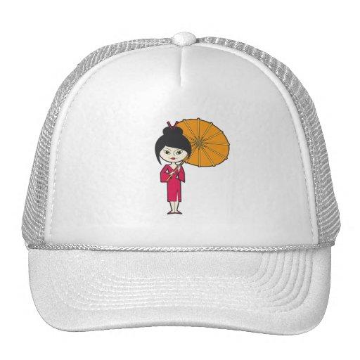 Cartoon Geisha Lady Hat