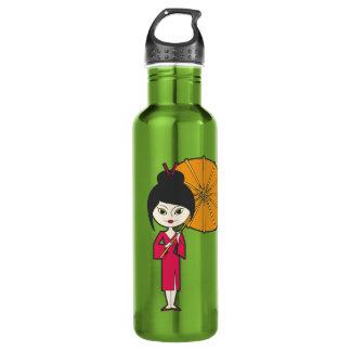 Cartoon Geisha Lady 710 Ml Water Bottle