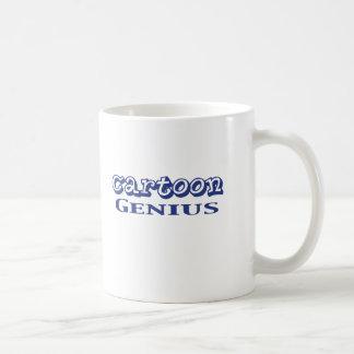 Cartoon Genius Gifts Basic White Mug