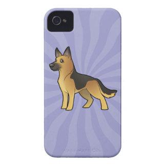 Cartoon German Shepherd iPhone 4 Case