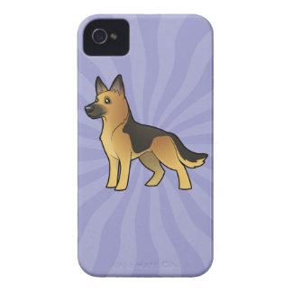 Cartoon German Shepherd iPhone 4 Case-Mate Cases