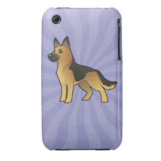 Cartoon German Shepherd iPhone 3 Case-Mate Cases