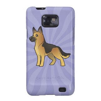 Cartoon German Shepherd Samsung Galaxy S2 Case