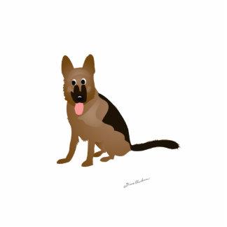 Cartoon German Shepherd Dog Standing Photo Sculpture