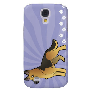 Cartoon German Shepherd Galaxy S4 Case