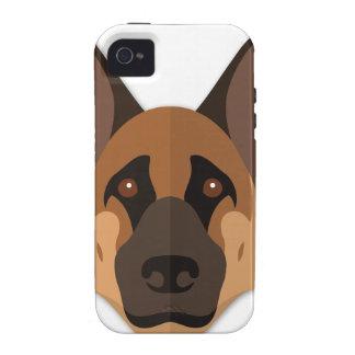 Cartoon German Shepherd Head iPhone 4/4S Case