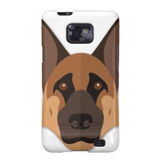 Cartoon German Shepherd Head Samsung Galaxy SII Covers