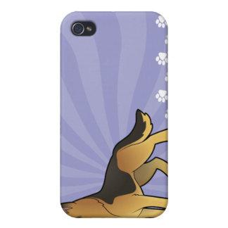 Cartoon German Shepherd iPhone 4 Covers