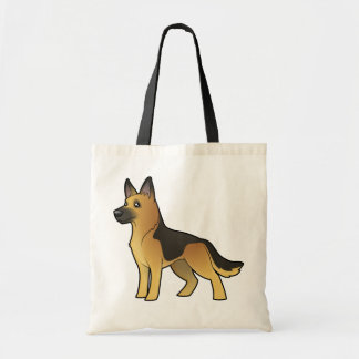 Cartoon German Shepherd Tote Bag