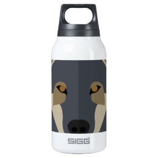 Cartoon Gey Wolf 10 Oz Insulated SIGG Thermos Water Bottle