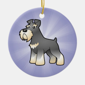 Cartoon Giant/Standard/Miniature Schnauzer Christmas Ornament
