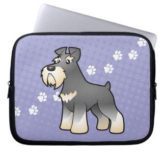 Cartoon Giant/Standard/Miniature Schnauzer Laptop Sleeve