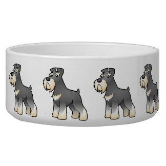 Cartoon Giant/Standard/Miniature Schnauzer Pet Bowls
