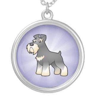 Cartoon Giant/Standard/Miniature Schnauzer Silver Plated Necklace