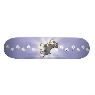 Cartoon Giant/Standard/Miniature Schnauzer Skateboard Deck